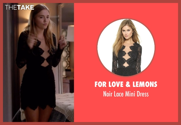 For Love & Lemons black dress from Nashville seen with Maddie Conrad (Lennon Stella)