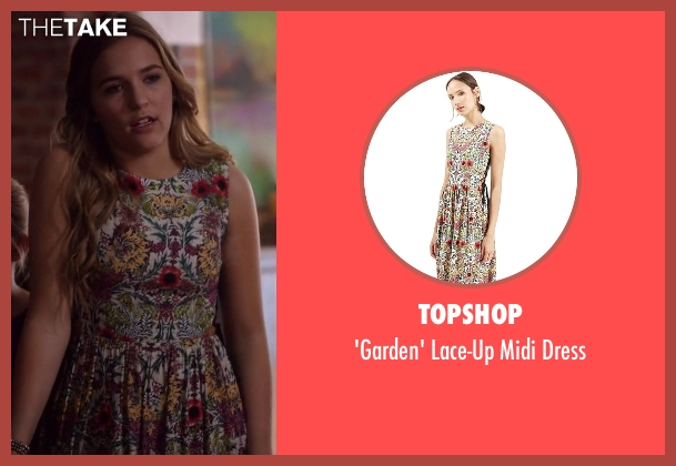 Topshop white dress from Nashville seen with Maddie Conrad (Lennon Stella)