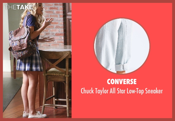 Converse white low-top sneaker from Nashville seen with Maddie Conrad (Lennon Stella)
