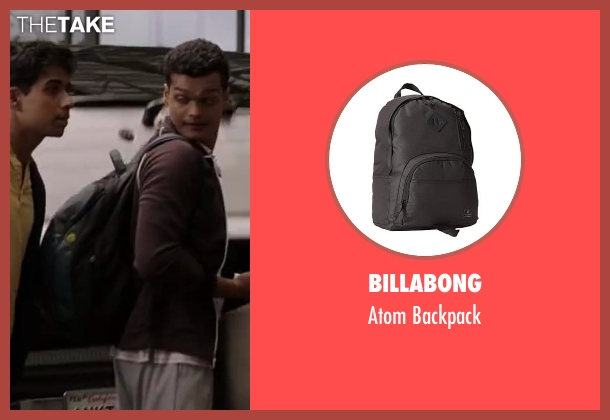 Billabong black backpack from Million Dollar Arm seen with Madhur Mittal (Dinesh)