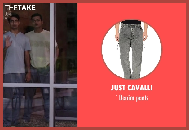 JUST CAVALLI black pants from Million Dollar Arm seen with Madhur Mittal (Dinesh)