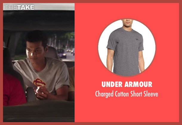 Under Armour gray sleeve from Million Dollar Arm seen with Madhur Mittal (Dinesh)