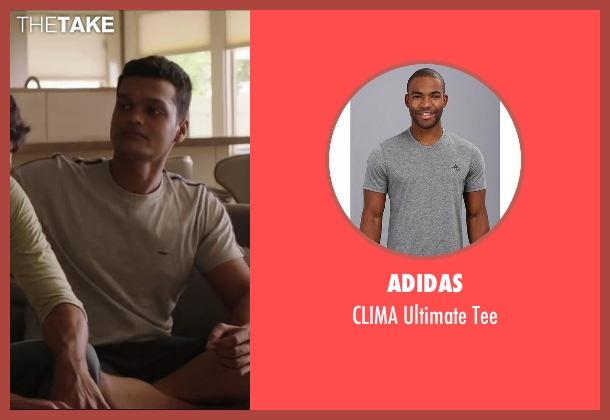 adidas gray tee from Million Dollar Arm seen with Madhur Mittal (Dinesh)