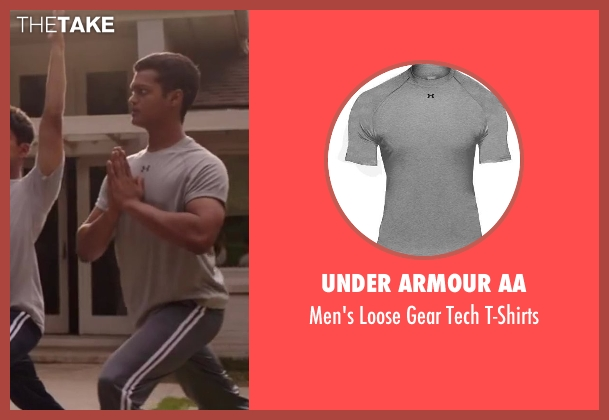 Under Armour AA gray t-shirts from Million Dollar Arm seen with Madhur Mittal (Dinesh)