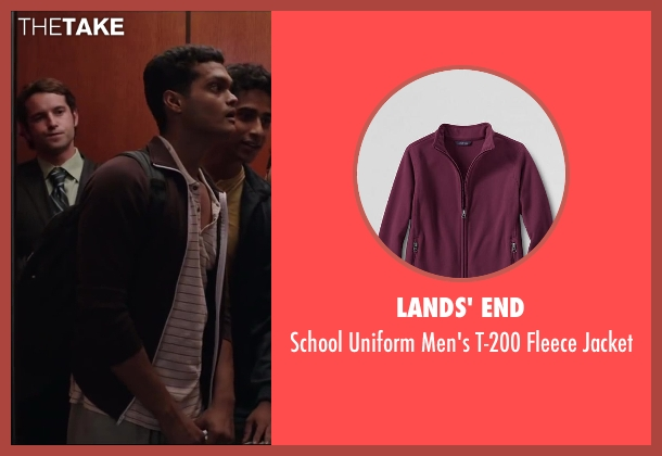 LANDS' END red jacket from Million Dollar Arm seen with Madhur Mittal (Dinesh)