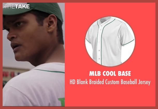 MLB Cool Base white jersey from Million Dollar Arm seen with Madhur Mittal (Dinesh)