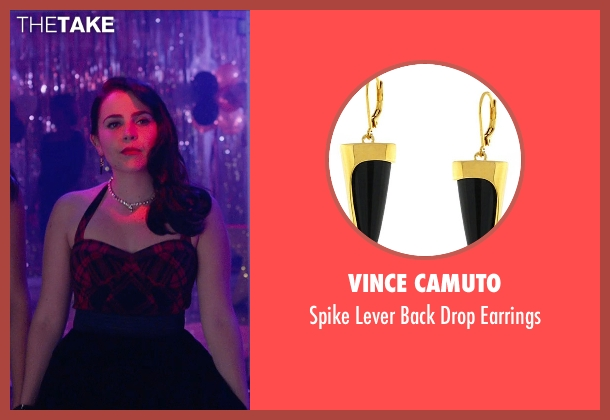 Vince Camuto black earrings from The DUFF seen with Mae Whitman (Bianca)