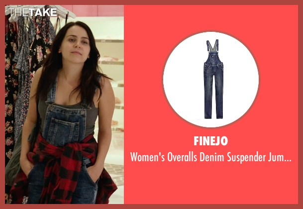 Finejo blue jumpsuit from The DUFF seen with Mae Whitman (Bianca)