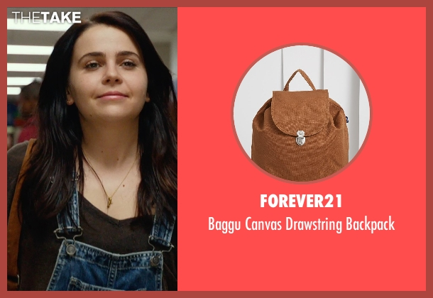 Forever21 brown backpack from The DUFF seen with Mae Whitman (Bianca)