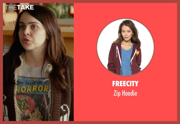 Freecity brown hoodie from The DUFF seen with Mae Whitman (Bianca)