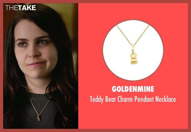 GoldenMine gold necklace from The DUFF seen with Mae Whitman (Bianca)