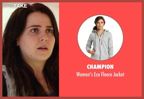 Champion gray jacket from The DUFF seen with Mae Whitman (Bianca)