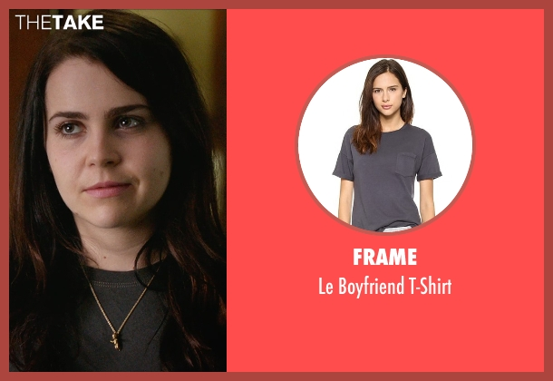 Frame gray t-shirt from The DUFF seen with Mae Whitman (Bianca)