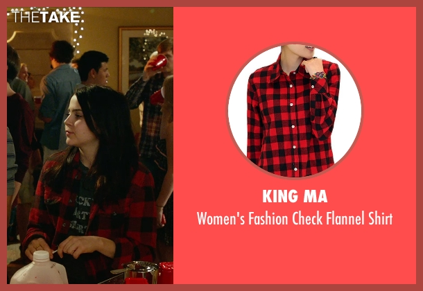 King Ma red shirt from The DUFF seen with Mae Whitman (Bianca)