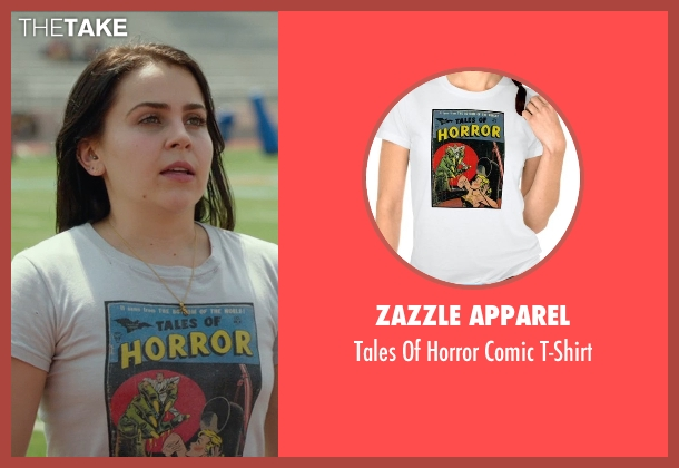 Zazzle Apparel white t-shirt from The DUFF seen with Mae Whitman (Bianca)