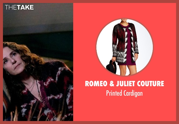 Romeo & Juliet Couture black cardigan from The Ranch seen with Maggie Bennett (Debra Winger)