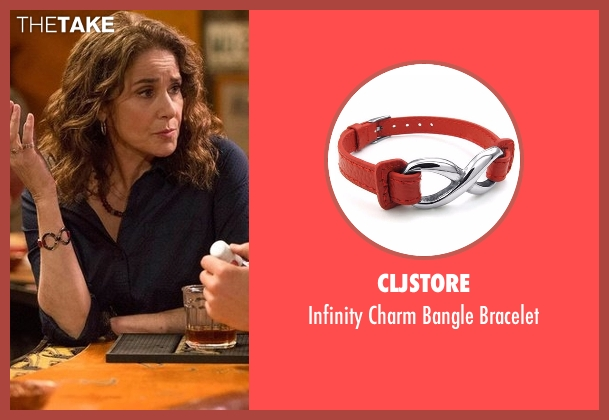 Cljstore red bracelet from The Ranch seen with Maggie Bennett (Debra Winger)