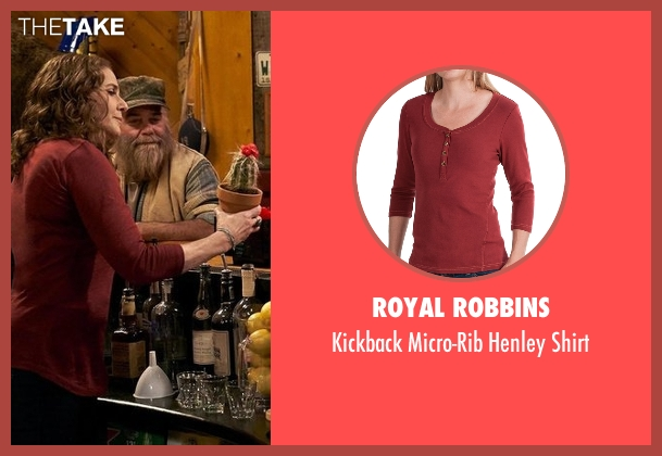 Royal Robbins red shirt from The Ranch seen with Maggie Bennett (Debra Winger)