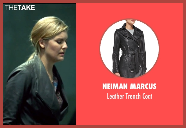 Neiman Marcus black coat from Taken 3 seen with Maggie Grace (Kim)
