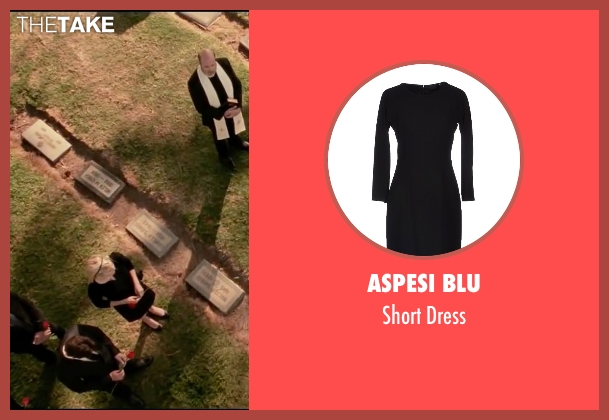 Aspesi Blu black dress from Taken 3 seen with Maggie Grace (Kim)