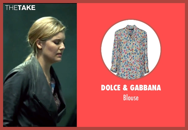 Dolce & Gabbana blue blouse from Taken 3 seen with Maggie Grace (Kim)