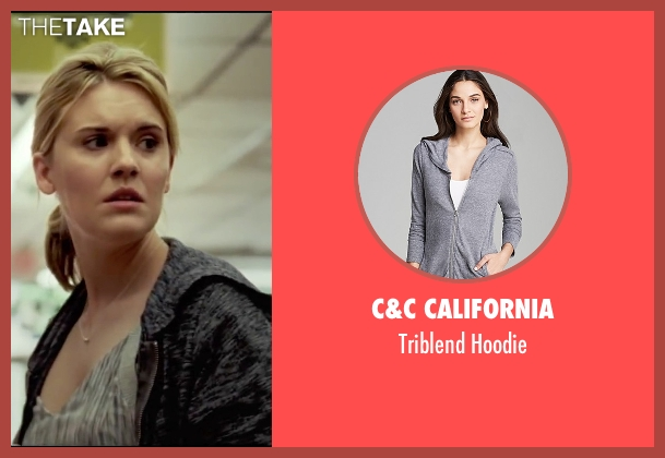 C&C California gray hoodie from Taken 3 seen with Maggie Grace (Kim)