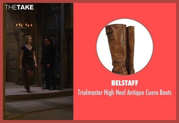 Belstaff brown boots from The Twilight Saga: Breaking Dawn - Part 2 seen with Maggie Grace (Irina)