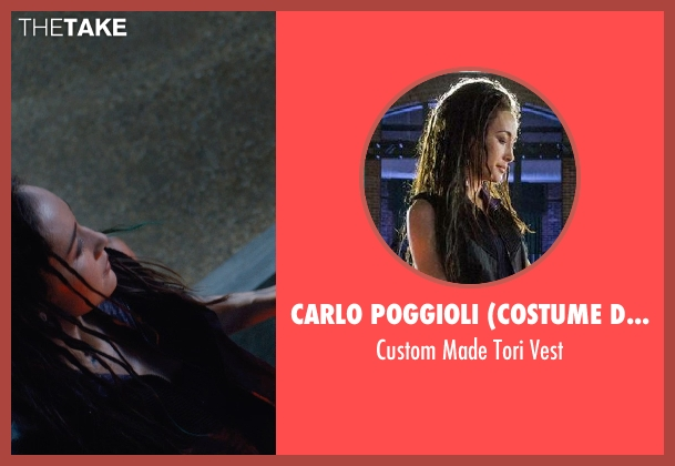 Carlo Poggioli (Costume Designer) black vest from Divergent seen with Maggie Q (Tori Wu)