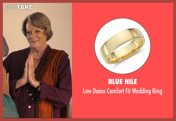 Blue Nile ring from The Second Best Exotic Marigold Hotel seen with Maggie Smith (Muriel Donnelly)