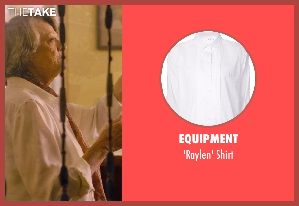 Equipment white shirt from The Second Best Exotic Marigold Hotel seen with Maggie Smith (Muriel Donnelly)