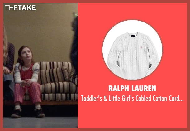 Ralph Lauren white cardigan from Steve Jobs seen with Makenzie Moss (Lisa Jobs (5 Years Old))