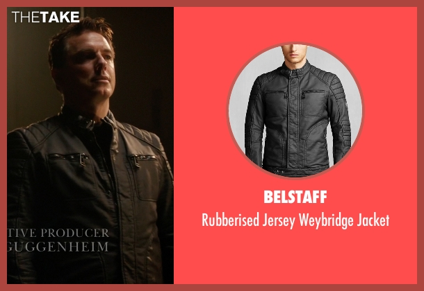 Belstaff black jacket from Arrow seen with Malcolm Merlyn (John Barrowman)
