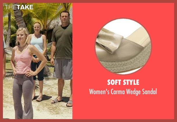 Soft Style beige sandal from Couple's Retreat seen with Malin Akerman (Ronnie)