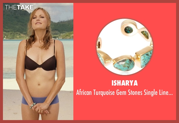 Isharya blue bracelet from Couple's Retreat seen with Malin Akerman (Ronnie)