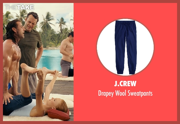 J.Crew blue sweatpants from Couple's Retreat seen with Malin Akerman (Ronnie)