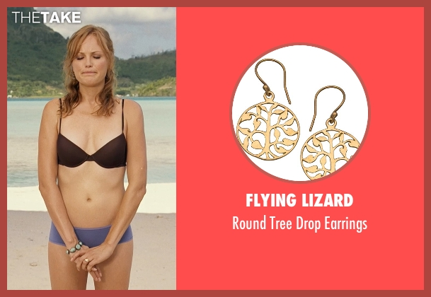 Flying Lizard gold earrings from Couple's Retreat seen with Malin Akerman (Ronnie)