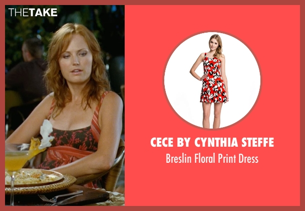 CeCe by Cynthia Steffe orange dress from Couple's Retreat seen with Malin Akerman (Ronnie)