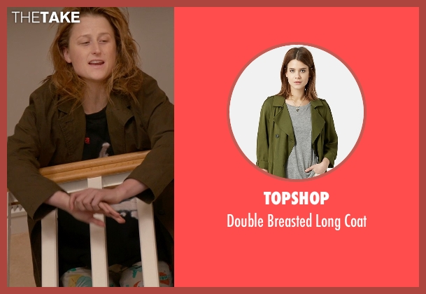 Topshop green coat from Ricki and the Flash seen with Mamie Gummer (Julie)