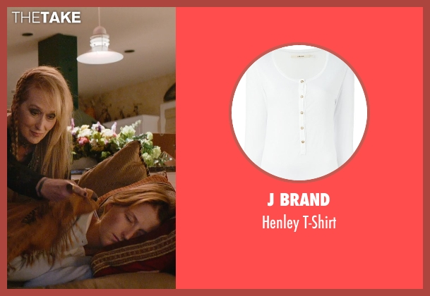 J Brand white t-shirt from Ricki and the Flash seen with Mamie Gummer (Julie)