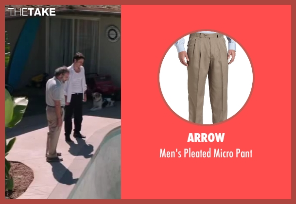 Arrow beige pant from Wish I Was Here seen with Mandy Patinkin (Saul Bloom)