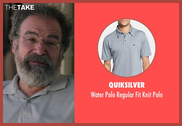 Quiksilver gray polo from Wish I Was Here seen with Mandy Patinkin (Saul Bloom)