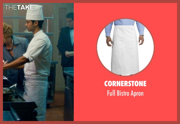 Cornerstone apron from The Hundred-Foot Journey seen with Manish Dayal (Hassan Haji)