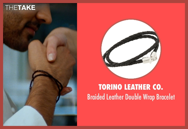 Torino Leather Co. black bracelet from The Hundred-Foot Journey seen with Manish Dayal (Hassan Haji)