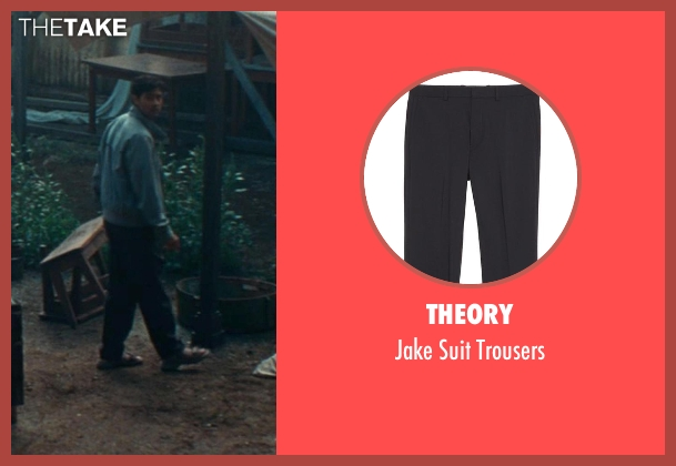 Theory black trousers from The Hundred-Foot Journey seen with Manish Dayal (Hassan Haji)