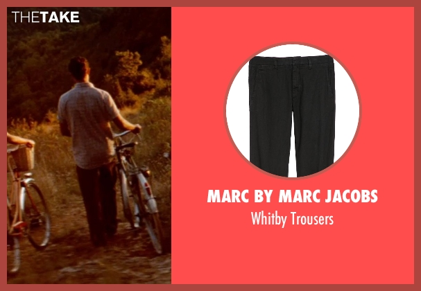 Marc by Marc Jacobs black trousers from The Hundred-Foot Journey seen with Manish Dayal (Hassan Haji)