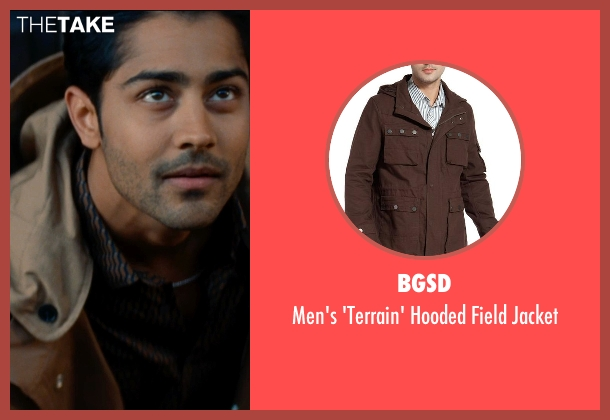 BGSD brown jacket from The Hundred-Foot Journey seen with Manish Dayal (Hassan Haji)