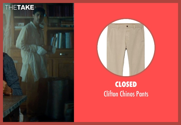 Closed brown pants from The Hundred-Foot Journey seen with Manish Dayal (Hassan Haji)