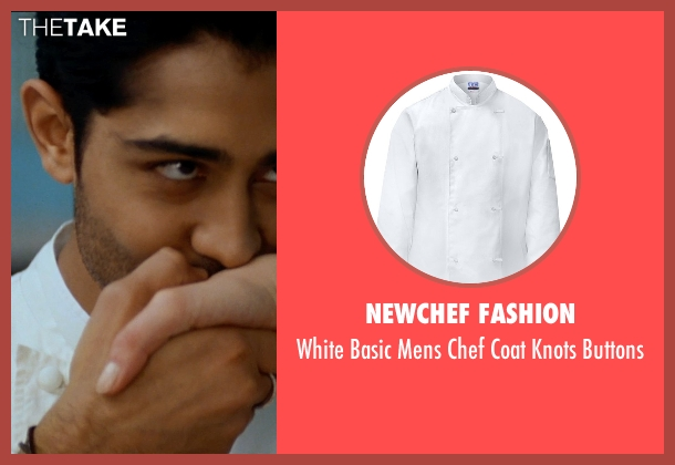 Newchef Fashion buttons from The Hundred-Foot Journey seen with Manish Dayal (Hassan Haji)