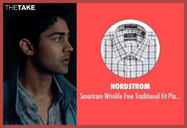 Nordstrom gray shirt from The Hundred-Foot Journey seen with Manish Dayal (Hassan Haji)