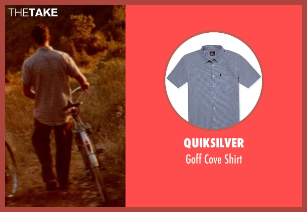Quiksilver gray shirt from The Hundred-Foot Journey seen with Manish Dayal (Hassan Haji)